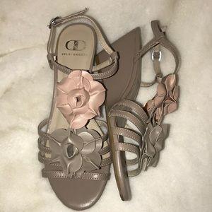 "Kelsi Dagger flower ""Babs"" wedge sandals"